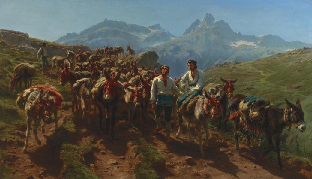 Rosa_Bonheur_-_Muletiers_espagnols_traversent_les_Pyrénées_(1875)