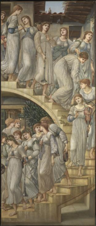 The Golden Stairs 1880 Sir Edward Coley Burne-Jones, Bt 1833-1898 Bequeathed by Lord Battersea 1924 http://www.tate.org.uk/art/work/N04005