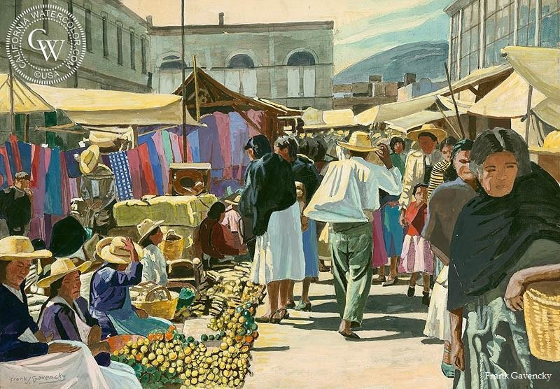 Frank_Gavencky-Mexican_Market_signed